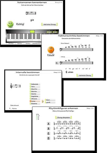 Powertraining Noten lernen - Übungssoftware